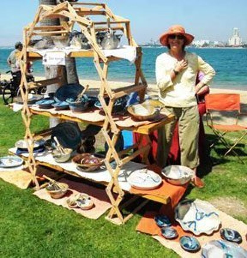 The Coronado Art Walk from Sept. 14-15, 2013 will offer attendees the chance to stroll through artists booths and art displays while enjoying ocean views of San Diego bay from Coronado. Courtesy Photo