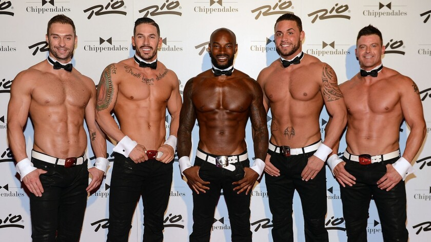 "The Chippendales, for long a popular ""ladies' night out"" show, is facing competition from a second,"