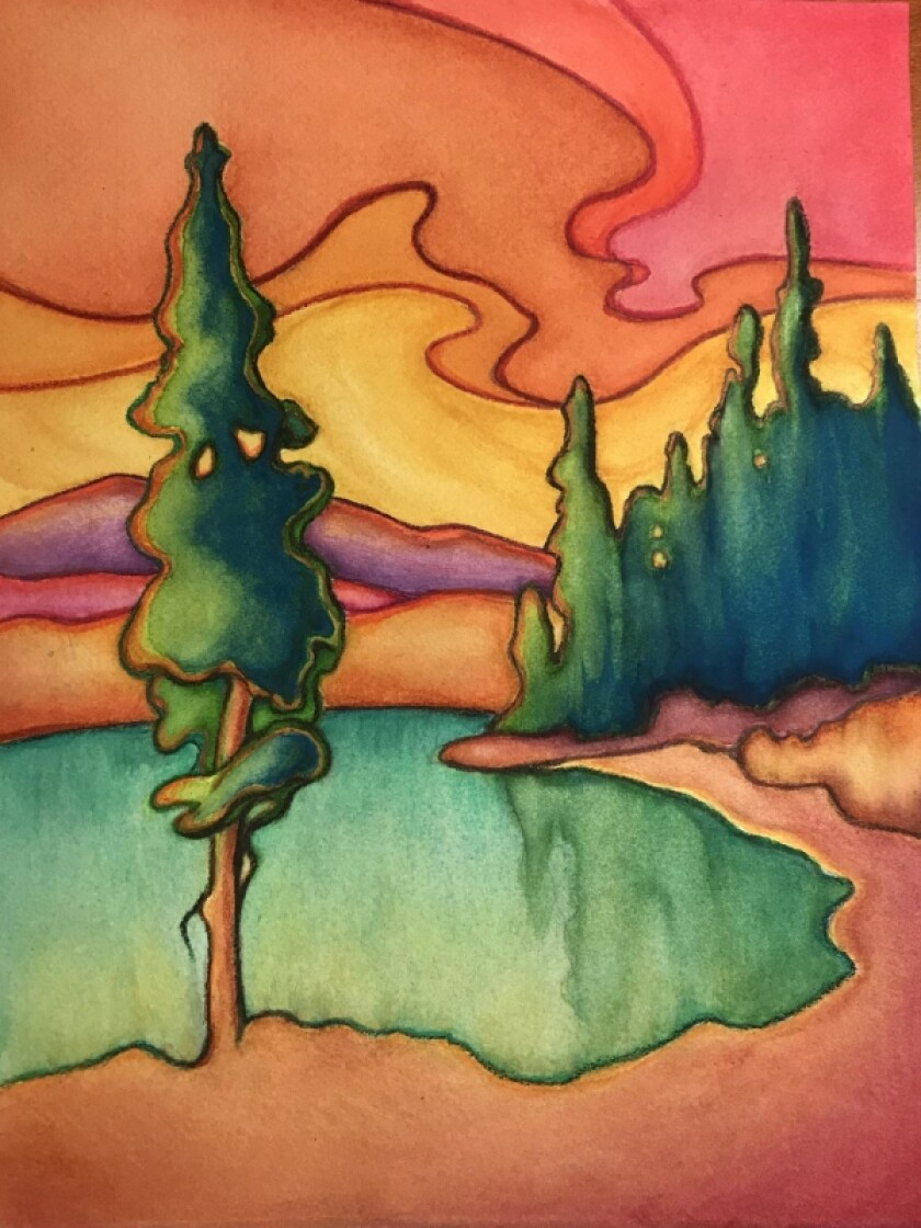 "The San Diego Watercolor Society's ""Lay It on Thick"" online exhibit runs through Saturday, Sept. 26."