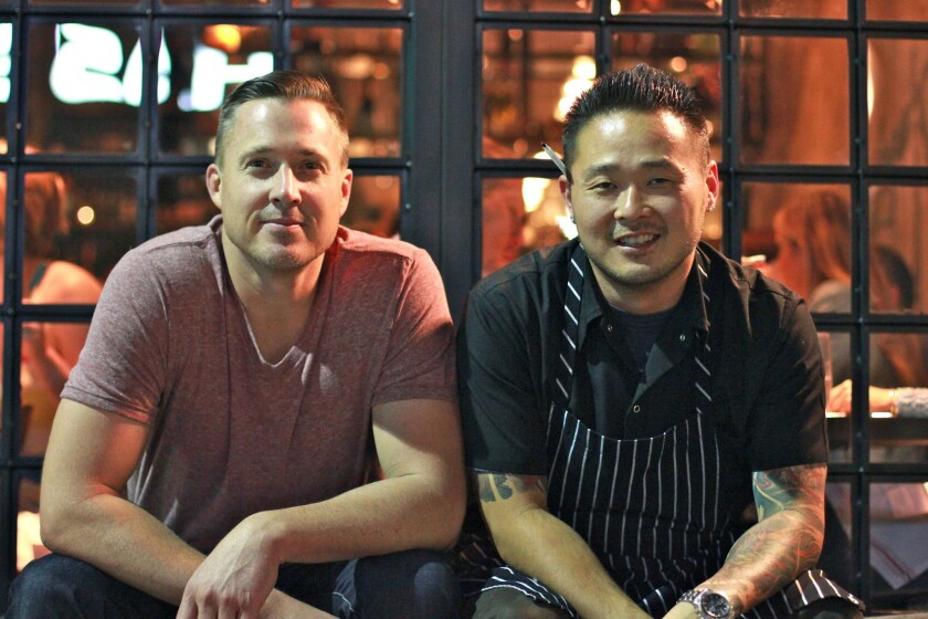 Restaurateur Jed Sanford, left, and chef Tin Vuong will open Dia de Campo in Hermosa Beach.