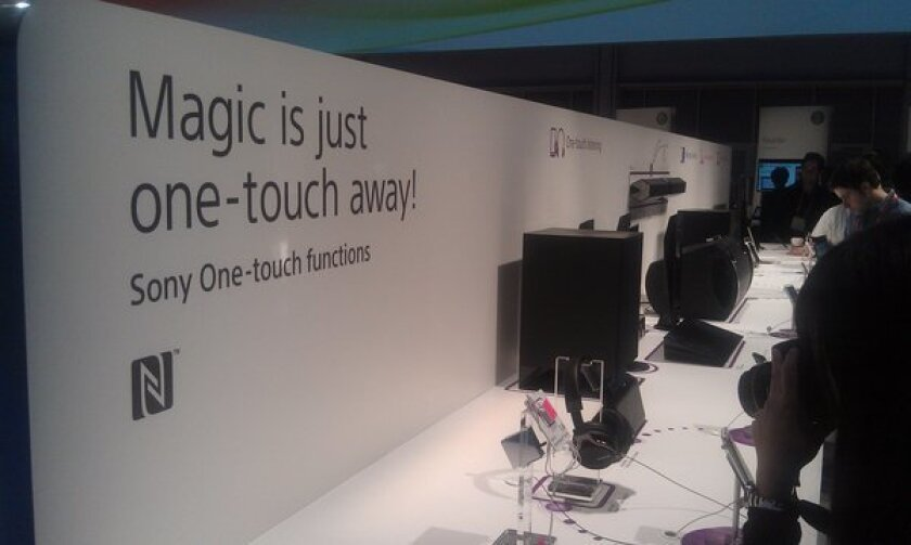 Sony One-touch pairing of phones to TVs and speakers