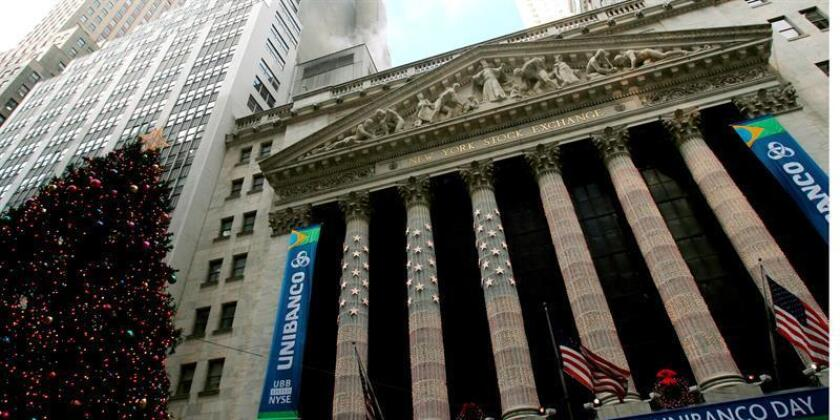 Imagen de la fachada del edificio de Bolsa de Nueva York, EEUU. EFE/Archivo