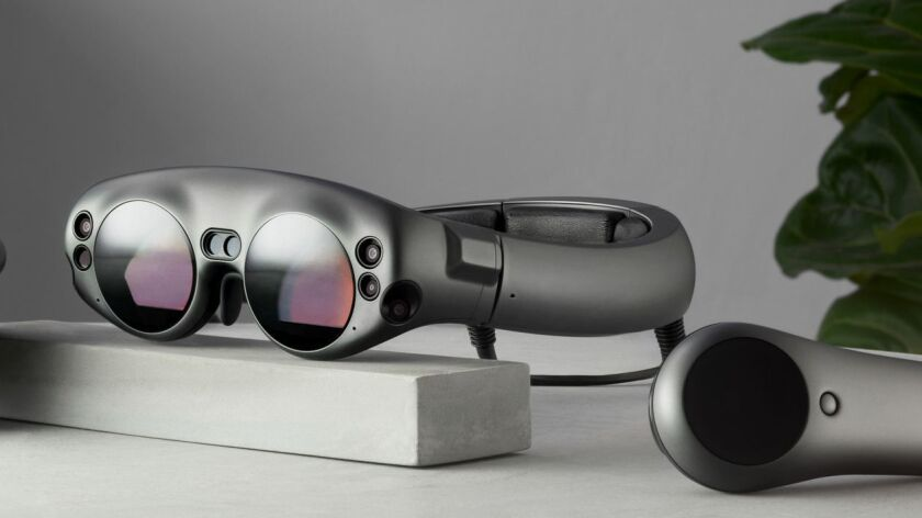 Magic Leap's One Reveal augmented reality goggles. The company is one of the most prominent startups working on AR technology, which makes 3-D digital objects appear as though they exist in the physical world.