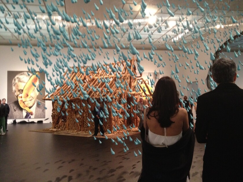 MOCA's gala began at Grand Avenue in the Urs Fischer exhibition, which opens this weekend.
