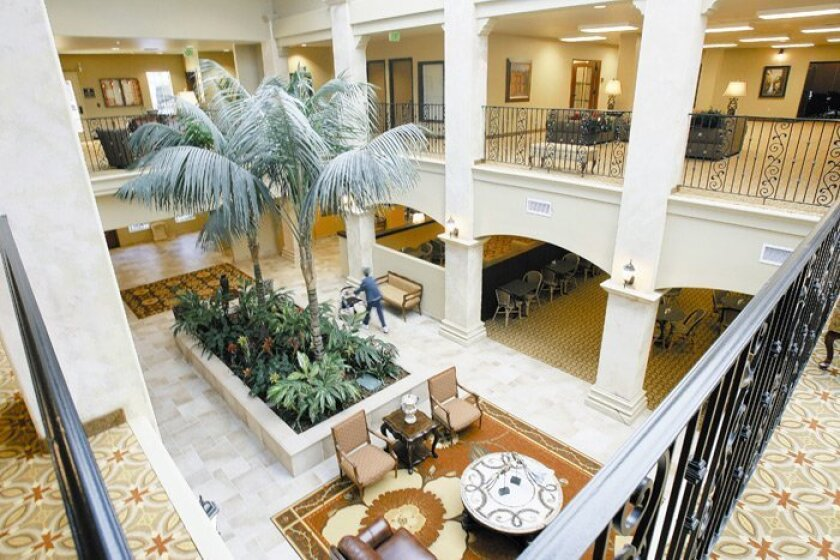 The Mediterranean-style Paradise Village, which opened in August, has an 18-hole putting green, restaurants, beauty salon/barber shop, health clinic, chapel, library and several lounges.