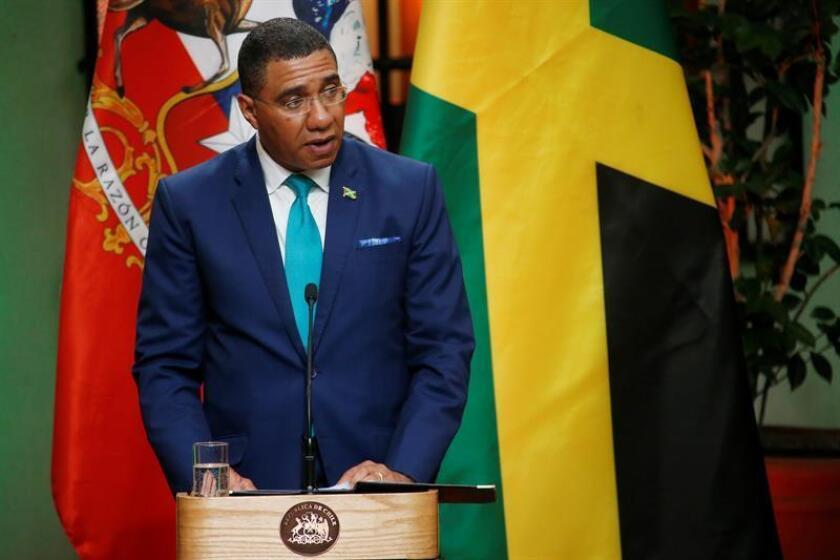 En la imagen, el primer ministro de Jamaica, Andrew Holness. EFE/Archivo