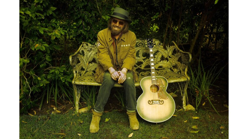 Grammy-award winning rocker Tom Petty at his home in Malibu in September.