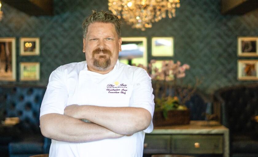 Chef Chris Haas at the Inn at Rancho Santa Fe's Morada restaurant.