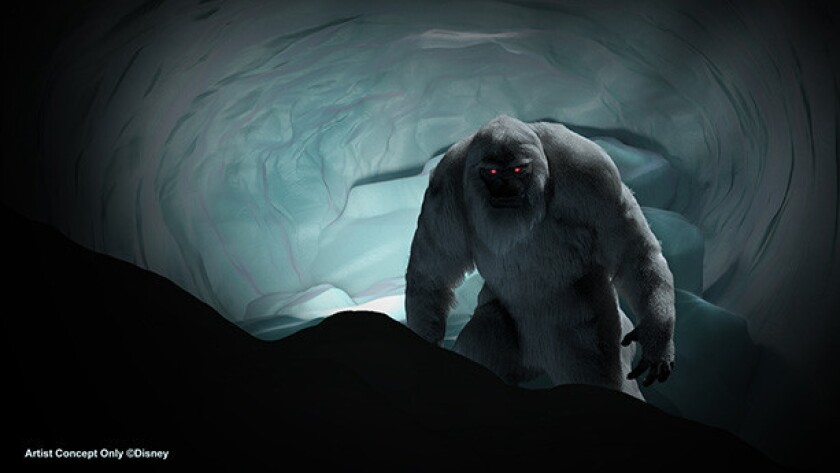 The Abominable Snowman gets a new look at Disneyland's Matterhorn Bobsled ride in time for its 60th anniversary celebration.