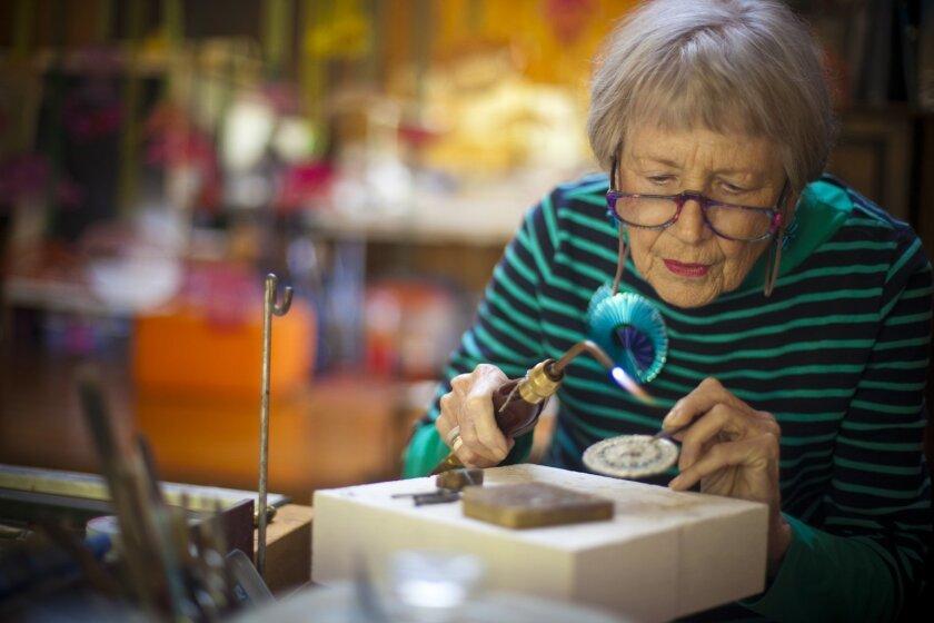 Artist Arline Fisch in her Mission Hills studio. Photo: Crissy Pascual / Infinite Media Works
