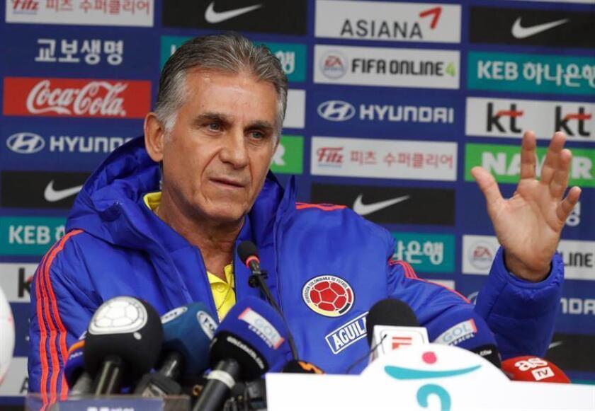Carlos Queiroz, entrenador de la selección de fútbol colombiana. EFE/Archivo
