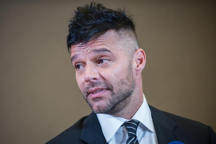 El cantante Ricky Martin durante una conferencia de prensa. EFE/Archivo