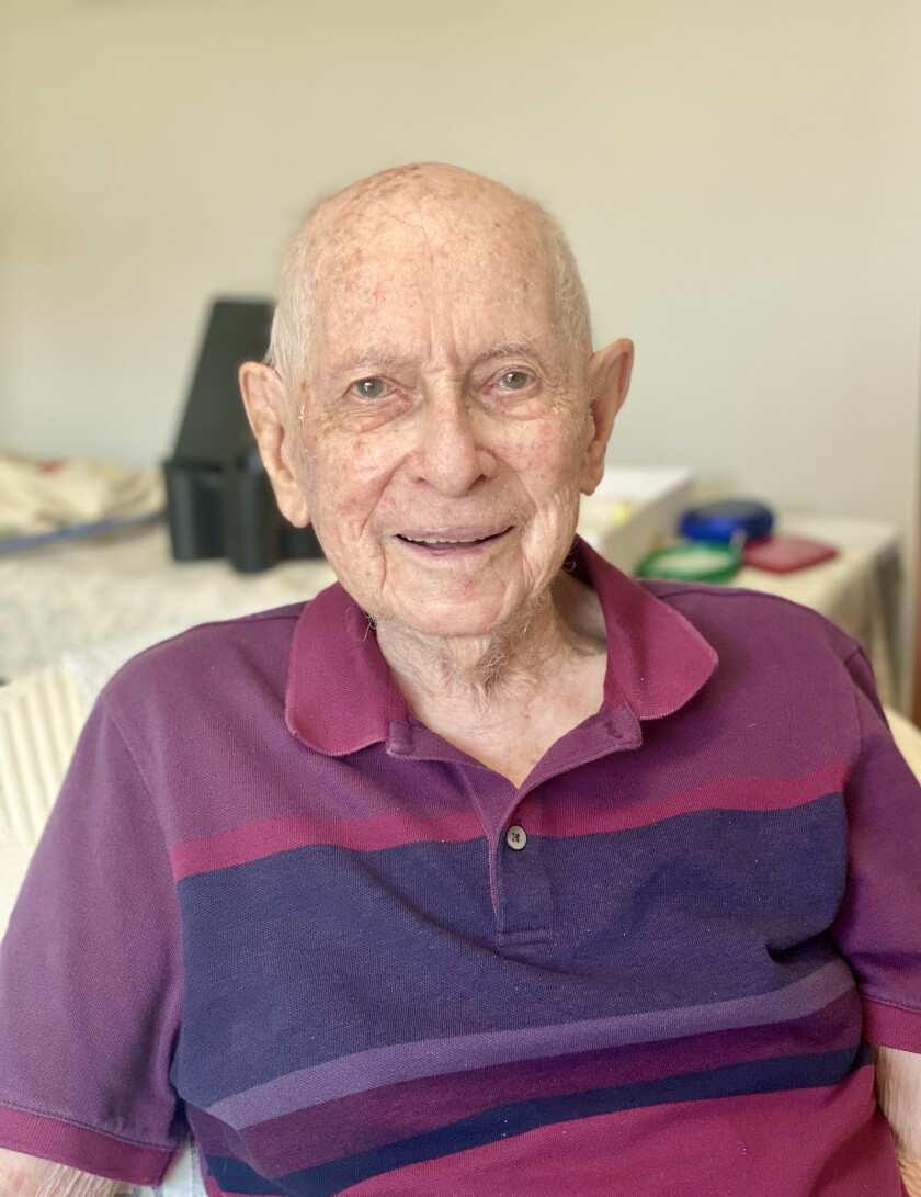 Local resident Peter Manes is approaching his 100th birthday Oct. 16.