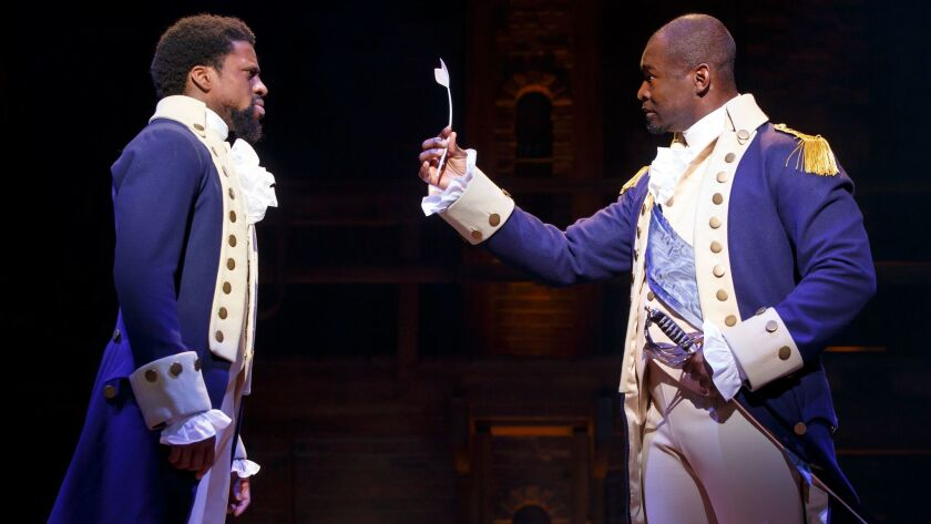Hamilton' brings its tale of American idealism to L A  at a
