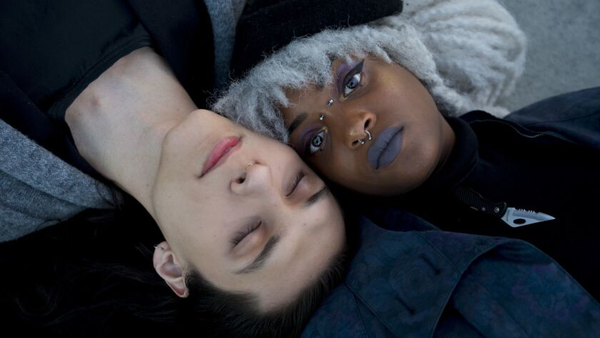 Amada, left, and Nyfe of the rising L.A.-based R&B duo Closegood.