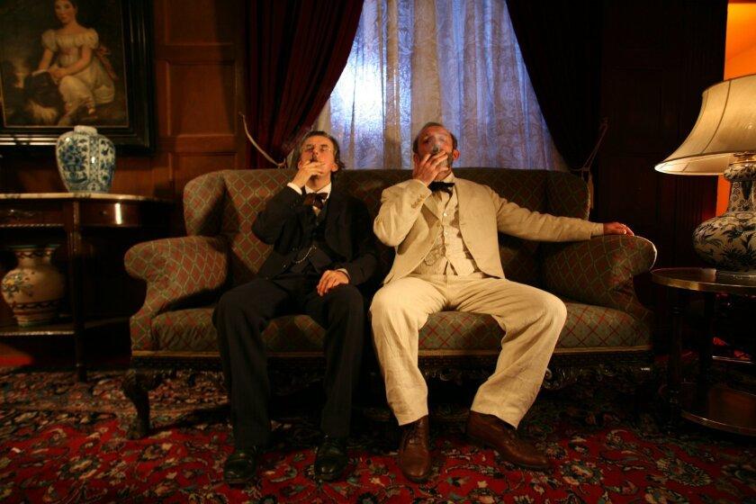 Gustav Mahler (Johannes Silberschneider) and Sigmund Freud (Karl Markovics) on the couch.