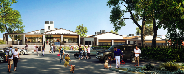 A rendering of the new adoptions building.