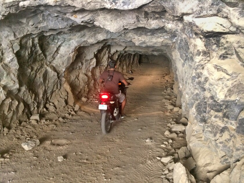 Abhi Eswarappa was keen to discover how far he could ride into the abandoned Reward mine. Answer? Fa