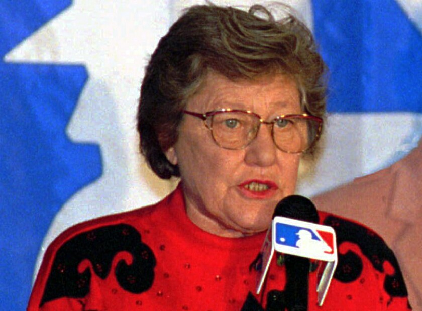 Marge Schott apologizes for making racist comments Dec. 10, 1992.