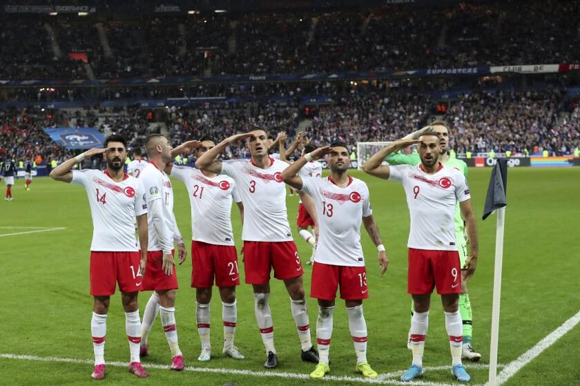 APTOPIX France Turkey Euro 2020 Soccer