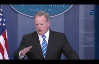 White House spokesman Sean Spicer on EPA media blackout