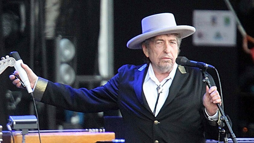Bob Dylan performs in Carhaix, France, in 2012.