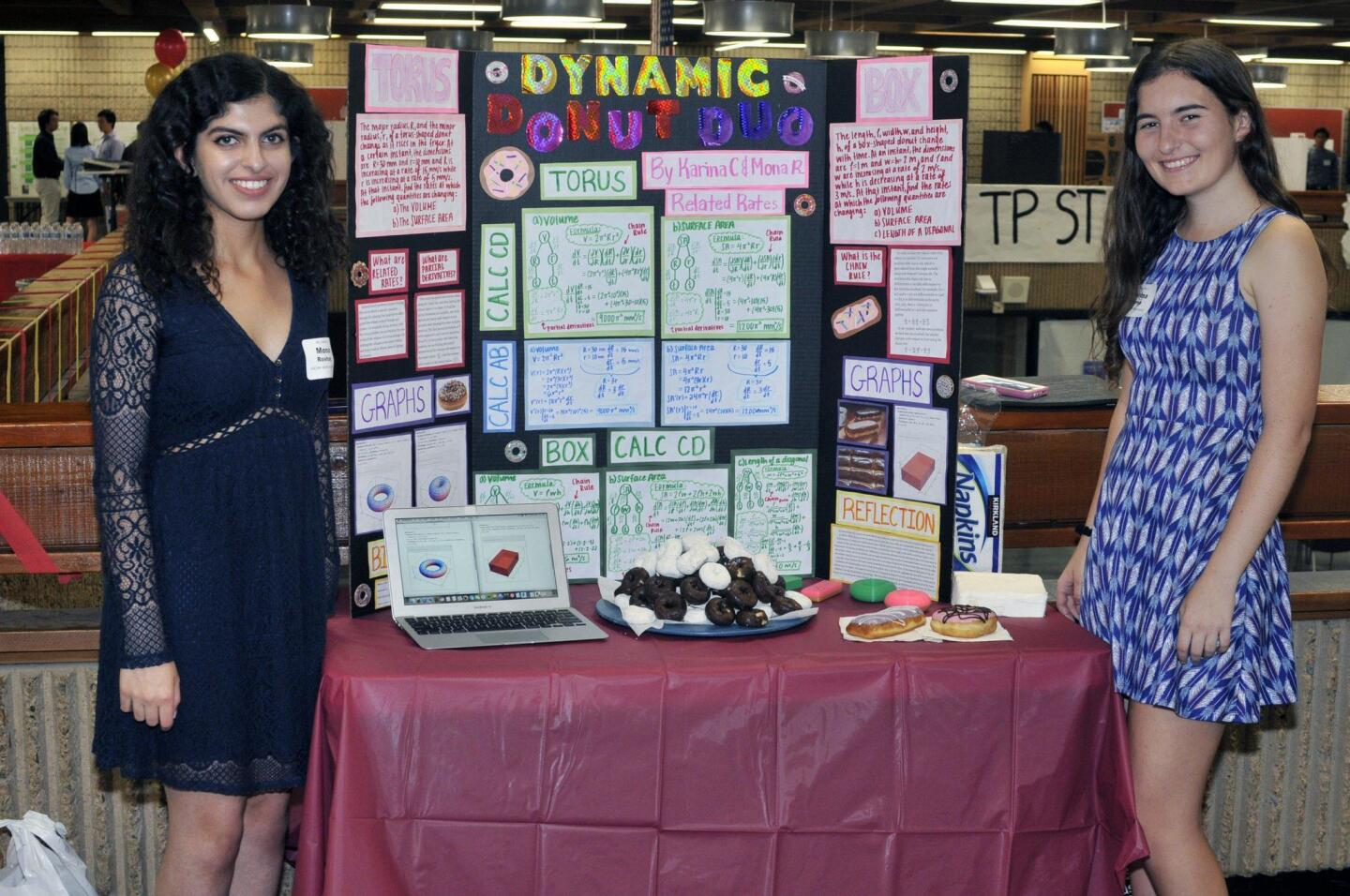 Mona Roshan and Karina Camp with their 'Dynamic Donut Duo' project