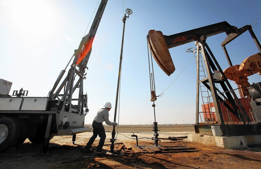 An oil field near Bakersfield, part of California's natural-gas-rich Monterey Shale formation.