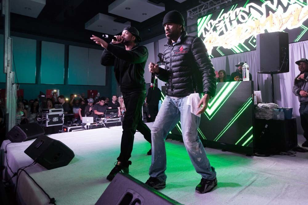 The ball dropped on New Year's Eve at the Hard Rock Hotel San Diego to the beats of Redman and Method Man on Dec. 31, 2017.