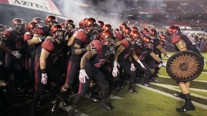 The San Diego State football team, which has won four straight season openers, begins the 2018 season on Friday night at 13th-ranked Stanford.