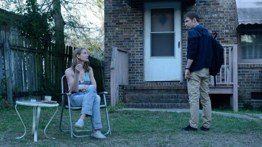 """Kelly Lynch and Harry Treadaway play a troubled mother and son in the Audience miniseries """"Mr. Merce"""