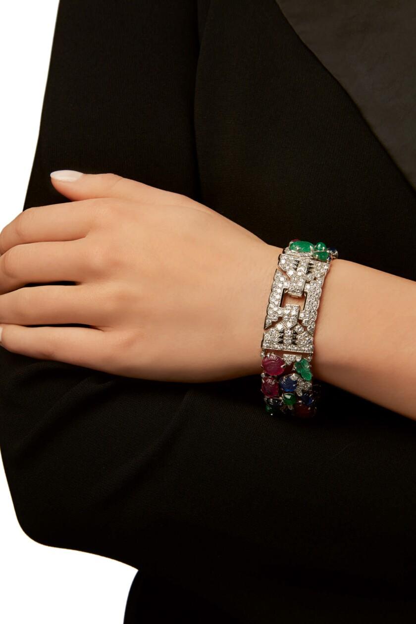 A vintage Cartier Tutti Frutti bracelet