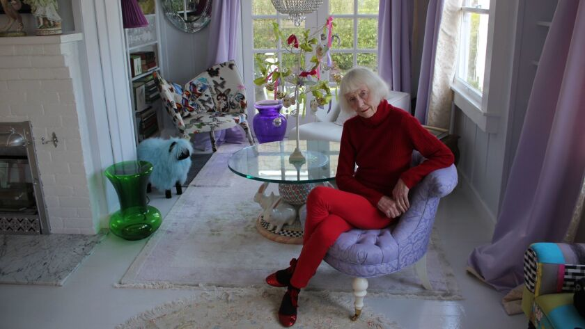 La Jolla Historical Society historian Carol Olten in her home fashioned with ornate and colorful déc
