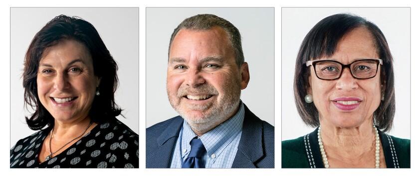 San Diego Unified School Board candidate Sabrina Bazzo and incumbents Richard Barrera and Sharon Whitehurst-Payne are ahead.