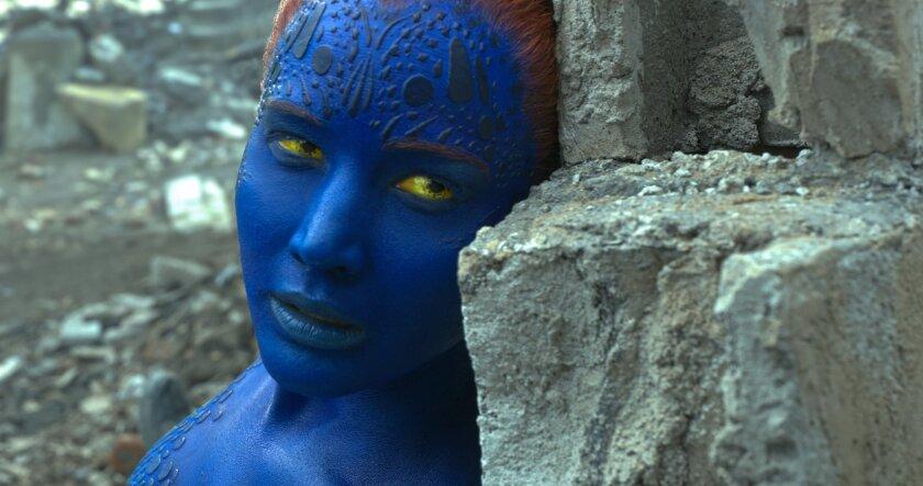 "In this image released by Twentieth Century Fox, Mystique, portrayed by Jennifer Lawrence, appears in a scene from, ""X-Men: Apocalypse."" (Twentieth Century Fox via AP)"