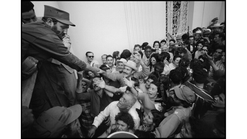 Photojournalist Burt Glinn traveled to Cuba to capture the early moments of the revolution, including Fidel Castro greeting crowds in Santa Clara. Many of his never-seen images are part of the new book 'Cuba 1959.'