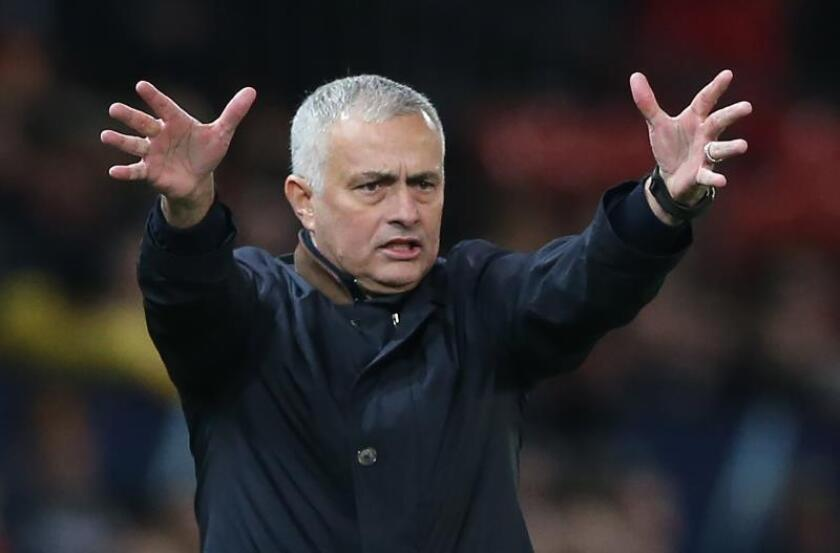 El entrenador Jose Mourinho del Manchester United. EFE/Archivo