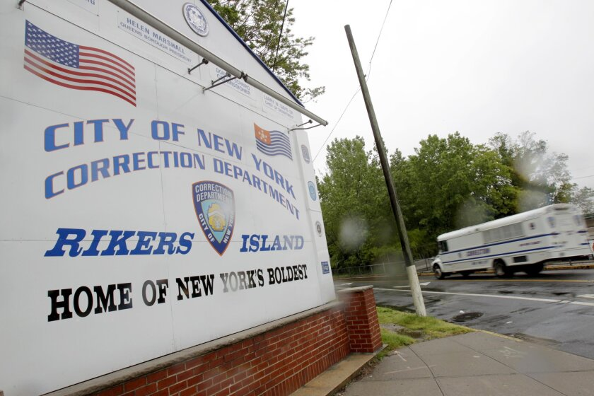 The entrance to Rikers Island in New York.