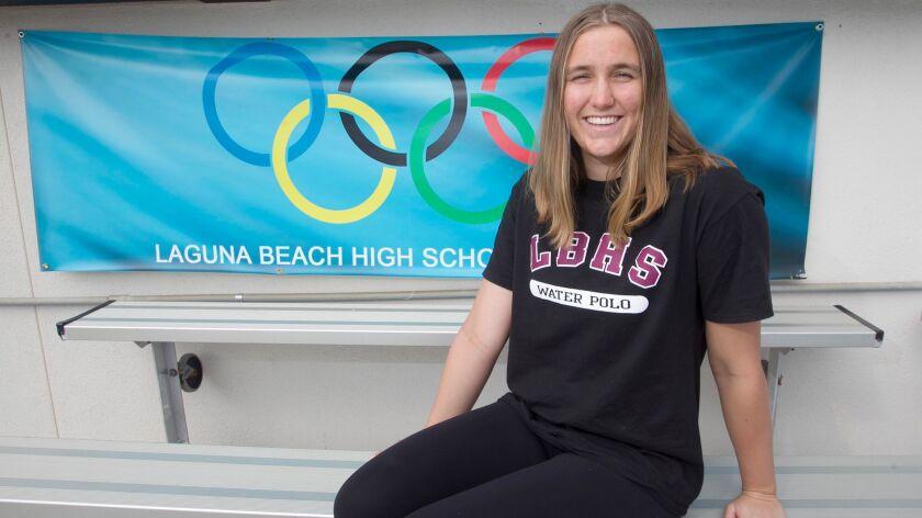 Laguna Beach senior Aria Fischer is the Daily Pilot Dream Team Girls' Water Polo Player of the Year.