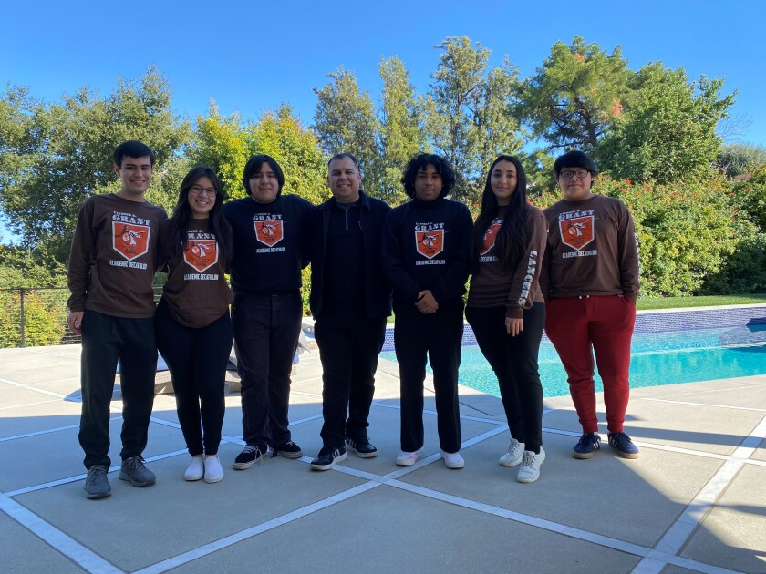 Grant High School's academic decathlon team