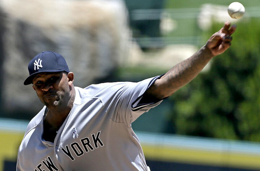 Yankees starter CC Sabathia reached 3,000 strikeouts and 250 wins for his career earlier this season.