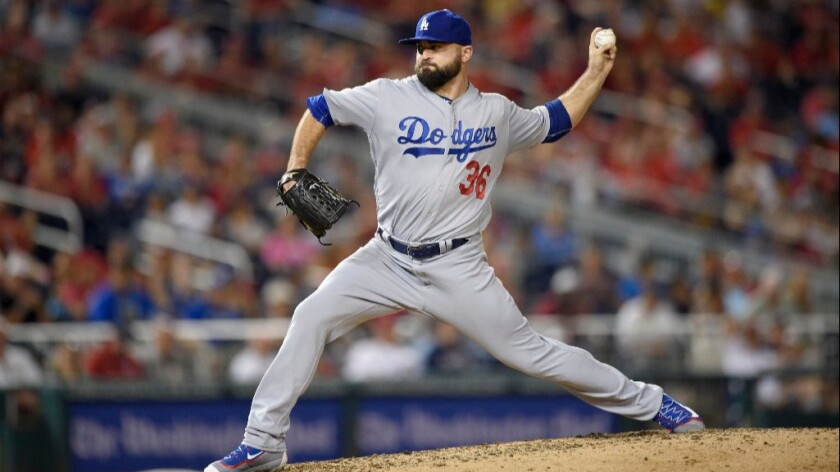Dodgers reliever Adam Liberatore is put on the disabled list because of left elbow inflammation.