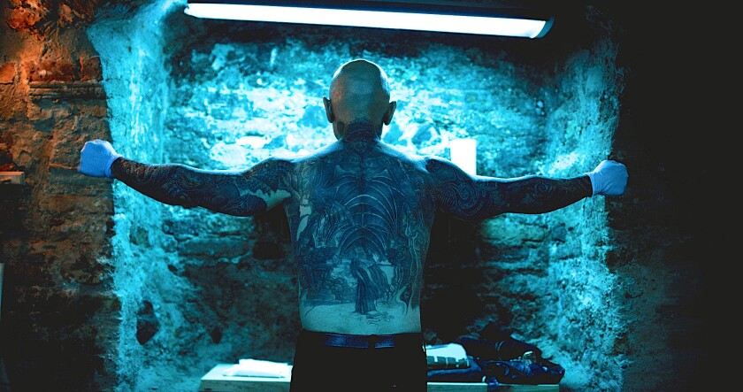"Robert LaSardo in the movie ""Anarchy Parlor,"" directed by Devon Downs and Kenny Gage."