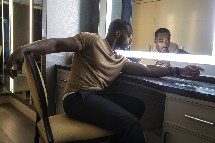 "Anthony Mackie stars in two December releases: ""Seberg"" and ""The Banker."""