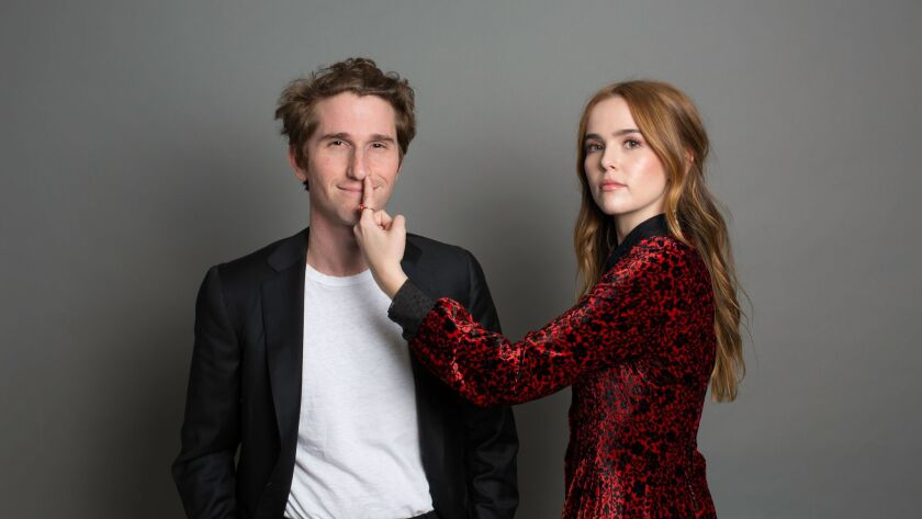 """Director Max Winkler and actress Zoey Deutch, star of the film """"Flower,"""" a dark comedy about a 17-year-old girl determined to regain her power by any means necessary."""