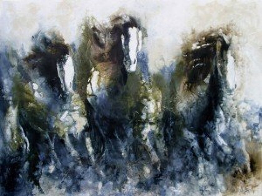 """""""Unbridled"""" from the Carol Santora Collection at The Inn at Rancho Santa Fe."""