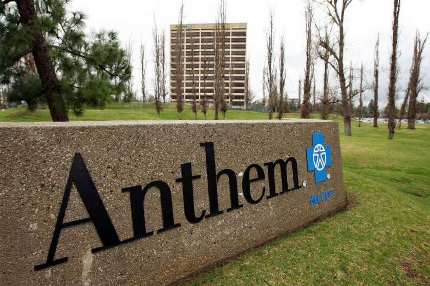 Cigna Corp. said Sunday that a $54-billion bid from rival Anthem Inc. was inadequate. Above, Anthem offices in Woodland Hills.