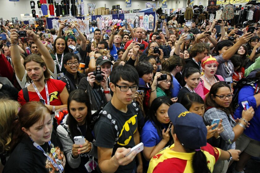 Comic-Con each year draws more than 130,000 fans to the San Diego Convention Cetner