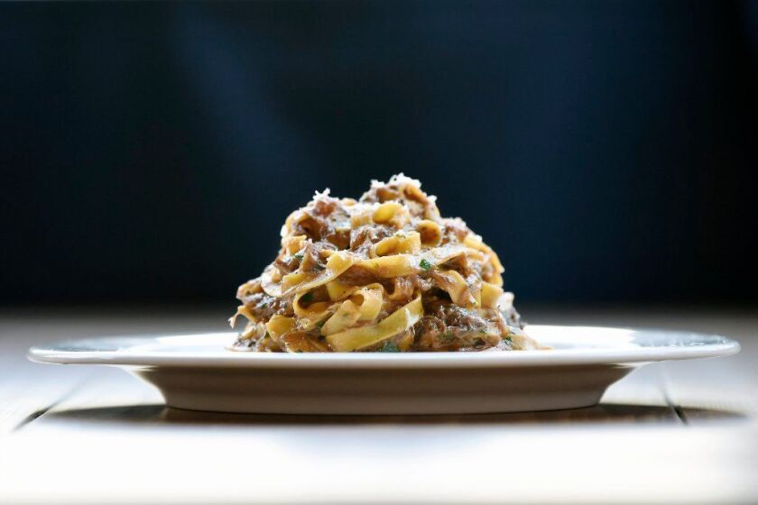 LOS ANGELES, CA-January 22, 2019: The tagliolini with duck ragu from Hippo restaurant in Highland Park on Tuesday, January 22, 2019. (Mariah Tauger / Los Angeles Times)