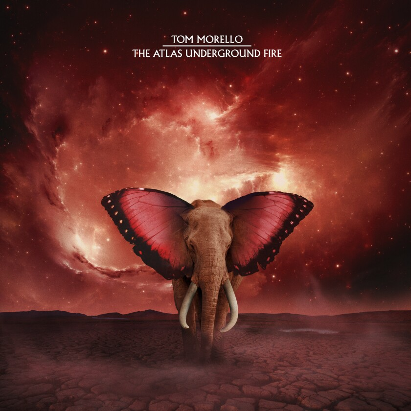 """This cover image released by Mom + Pop Music shows """"The Atlas Underground Fire"""" by Tom Morello. (Mom + Pop Music via AP)"""
